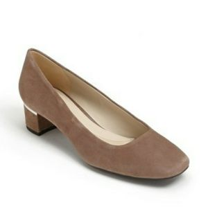 Naturalizer Wanda Taupe Suede Pumps